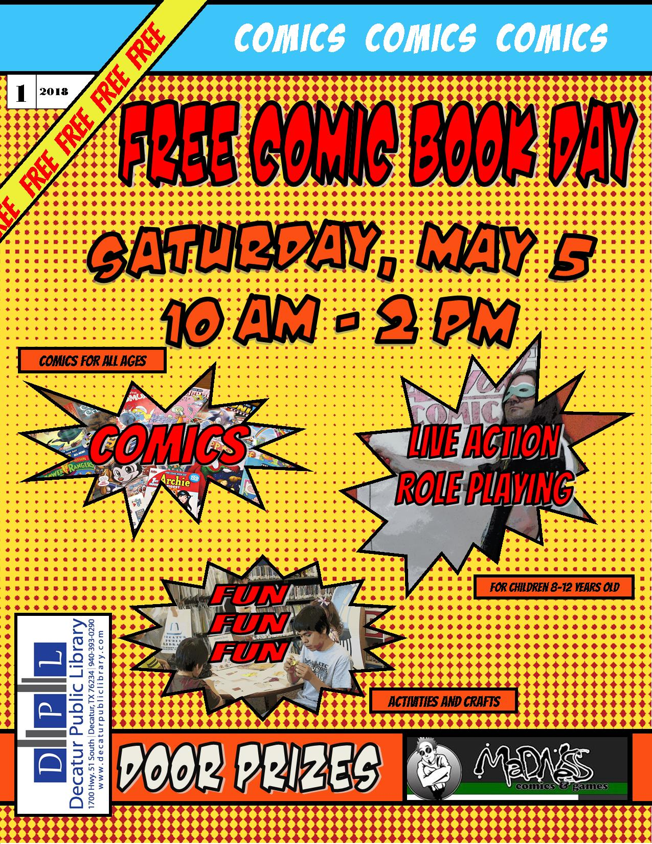 free comic book day flyer 2018