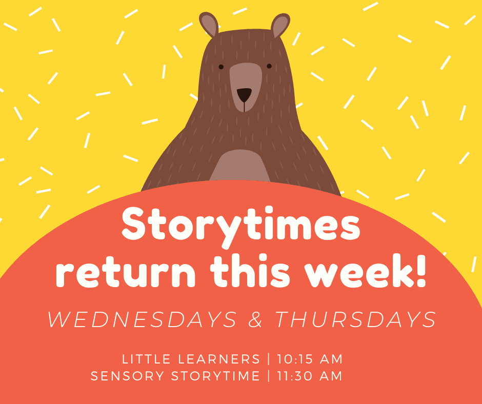 Storytimes return Jan. 15th