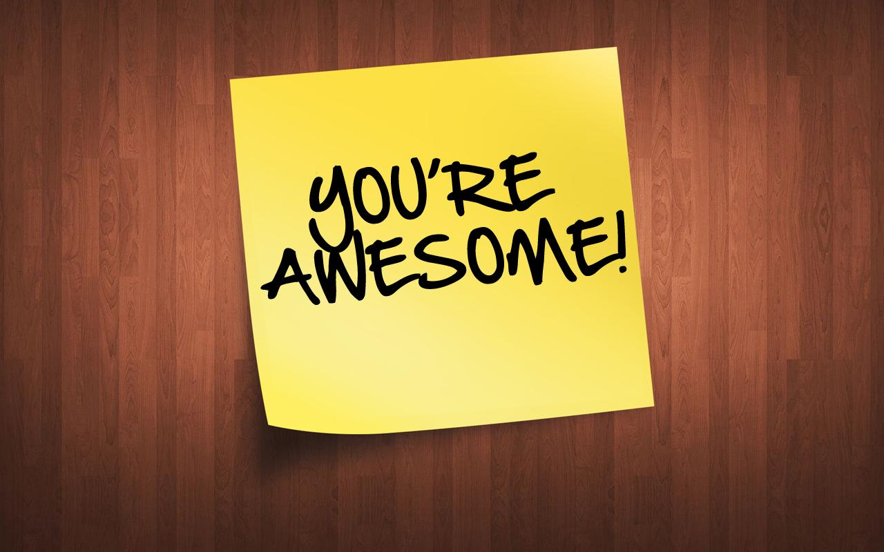 """you're awesome"" image for HR employee page"